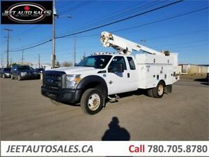2013 Ford Super Duty F-450 DRW Bucket Boom Truck with 12Ft body