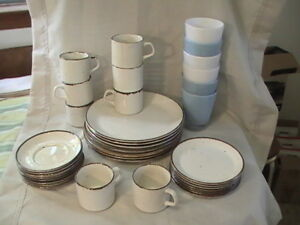 *Dish Set with Cups and Glasses Dishes, Dining Set,Dinner Set #1