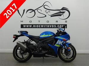 2017 Suzuki GSXR 600 - Stock #V2456 - No Payments for 1 Year**