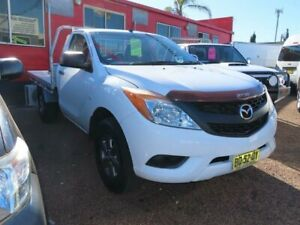 2012 Mazda BT-50 UP0YD1 XT 4x2 White 6 Speed Manual Cab Chassis Minchinbury Blacktown Area Preview