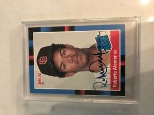 Roberto Alomar Rookie Card Signed