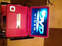 "10"" portable DVD player in pink"