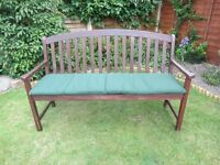CUSHION for a Three Seater Garden Seat/Bench Cushion - 60 x 480 x 1430mm