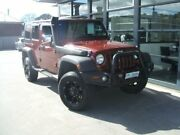 2007 Jeep Wrangler JK Unlimited Sport Red 6 Speed Manual Softtop Invermay Launceston Area Preview