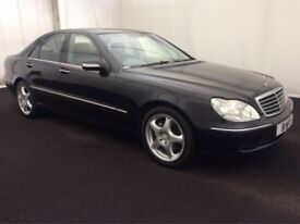 MERCEDES S320 CDI AUTOMATIC 2004 54 PLATE BLACK & LEATHER FULLY LOADED FULL SERVICE HISTORY LONG MOT