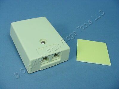 Leviton DUPLEX Ivory Surface Mount Telephone Jack Type 104/110 4-Wire 41044-IDA