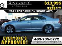 2011 Ford Fusion Sport $129 bi-weekly APPLY TODAY DRIVE TODAY