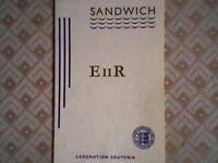 "(CINQUE PORT) SANDWICH ""E 11 R"" CORONATION GENUINE OFFICIAL SOUVENIR GUIDE 1953"