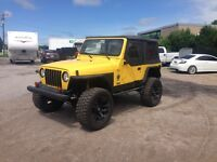 2000 Jeep TJ Sport, LIfted, 20's Up For Auction