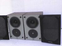 100W Wharfedale 504 Brown Diamond Stereo Speakers - Heathrow