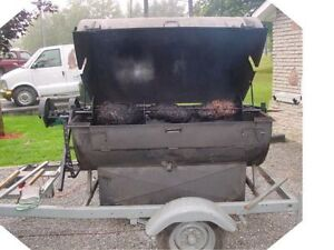 Pig or side of beef  or chicken roaster, coal fired