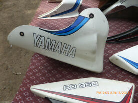 yamaha rd 250/350 lc parts belly pan pro am fairings etc