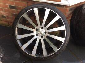 "VW 22"" BK Racing Wheels/Alloys"