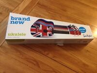Brand New and unused Children's Ukulele with Union Jack Body with Box (was 14.99 originally)