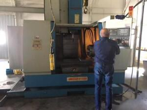 "2002 SUPERMAX YCM-V116B Vertical Machining Center 24""x47"" Table with 4th Axis 16"" Chuck with 5"" Hole"