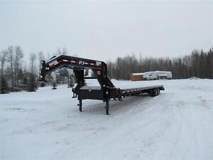 Brand New PJ Gooseneck Flatdeck - 32 ft, 2(10,000 lb) axles