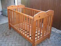 John Lewis Lilliput Cot Bed, drawer, dresser and wardrobe - 4 piece set
