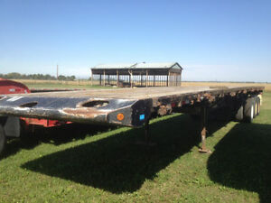2007 Doepker Tri Axle Highboy Trailer W/ Live Roll