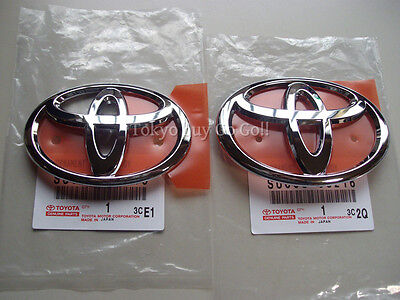 Scion Fr-s Toyota 86 GT86 ZN6 Front and Rear Logo Emblem NEW Genuine OEM Parts