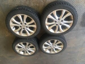 Winter studded tires and rims
