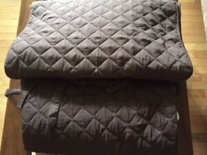 2 quilted chair covers/ protectors like new