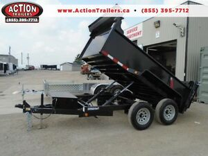 SAVE $300 - 5 TON HYDRAULIC DUMP TRAILER 6X10 BED - SALE PRICED London Ontario image 1
