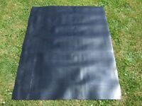 BLACK RUBBER SHEET SHEETING APPROX. 126cm x 100cm x 1.3mm NEW