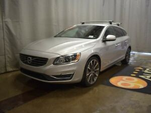 2015 Volvo V60 T5 Platinum - Heated Leather+Wheel, B/U Cam, Sunr