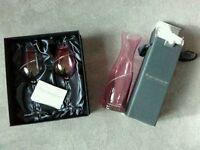 Portmeirion wine glasses and carafe (wine holder) with swarovski elements.