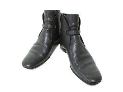 Auth LOUIS VUITTON Black Leather NI0069 Boots Men
