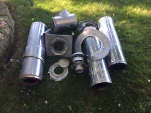 Stainless Steel Chimney Pipe with hardware-Excellent condition!