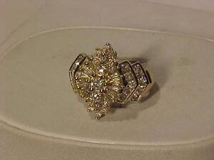 #3119-1.50 carat 14K YELLOW GOLD LADY`s DRESS RING-Size 7 1/2-APPRAISED-$3,500.00-Sale $1,195.00-ACCEPT Ebank TRANSFER