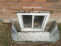 ENLARGE BASEMENT WINDOW CUT & INSTALLATIONS -30 YEARS EXP
