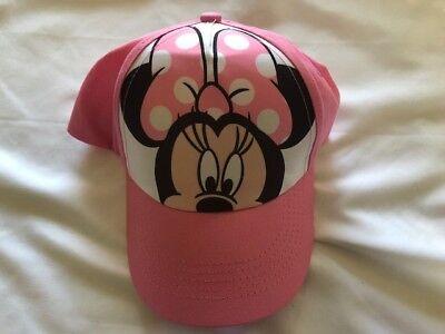 Little Girls Hat (NEW Disney Minnie Mouse Little Girls Hat Baseball Cap Pink  )