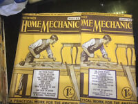 1930s Vintage Newnes Home Mechanic FULL SET All with construction sheets