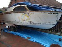 SEA KNIGHT 17FT CRUISER RESTORATION PROJECT ON TRAILER