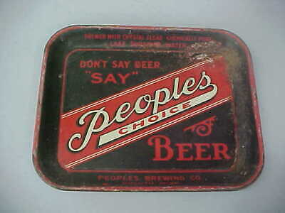 VINTAGE PEOPLE'S CHOICE BEER TRAY (DULUTH, MINN)