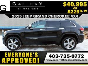 2015 Grand Cherokee LIMITED $229 bi-weekly APPLY NOW DRIVE NOW