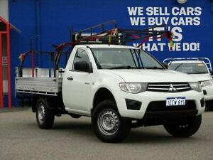 2013 Mitsubishi Triton MN MY13 GLX 4x2 White 4 Speed Sports Automatic Cab Chassis Welshpool Canning Area Preview