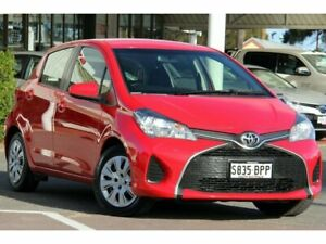 2014 Toyota Yaris NCP130R Ascent Cherry 5 Speed Manual Hatchback Christies Beach Morphett Vale Area Preview