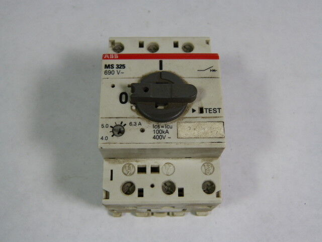 Asea Brown Boveri MS325-6.3/1SAM15000R1009 Manual Motor Starter 4-6.3Amp  USED