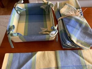 *New*Place Mats with Cloth Napkins and Bread Basket