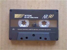 £4 & FREE P&P, GUARANTEED TDK AR 90 PREMIUM CASSETTE TAPES 1994-1997 W/ CARDS CASES LABELS