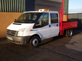 Ford Transit Crewcab dropside truck