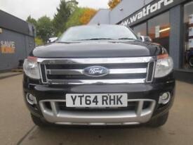 2014 Ford Ranger Limited 3.2TDCi 4x4 D/Cab Pick Up *FULLY LOADED* Diesel black M