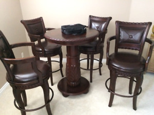 Games table and 4 chairs