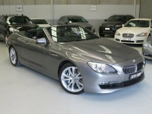 2013 BMW 6 Series F12 MY1112 640i Steptronic Meteorite Grey 8 Speed Sports Automatic Convertible Seaford Frankston Area Preview