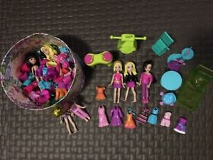 Polly Pocket Dolls with clothing & accessories