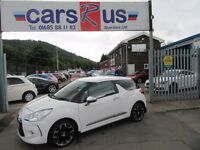 Citroen DS3 HDI BLACK AND WHITE 3d 90 BHP service history (white) 2011