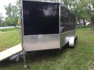 2015 On Sale 7X19 enclosed front + REAR RAMPS DRIVE IN OUT